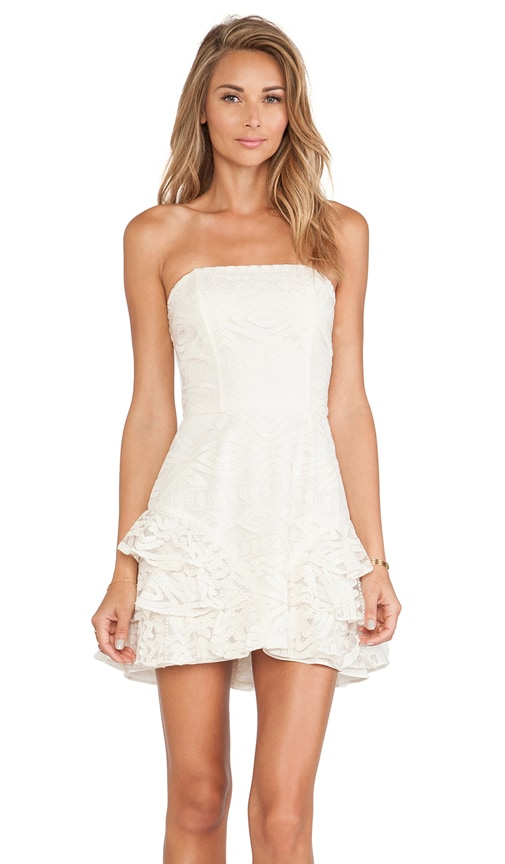 Razzoli Ruffled Lace Dress