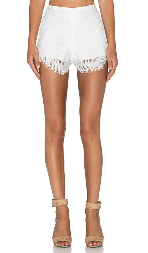 Alexis Pia Lace Shorts in Off White