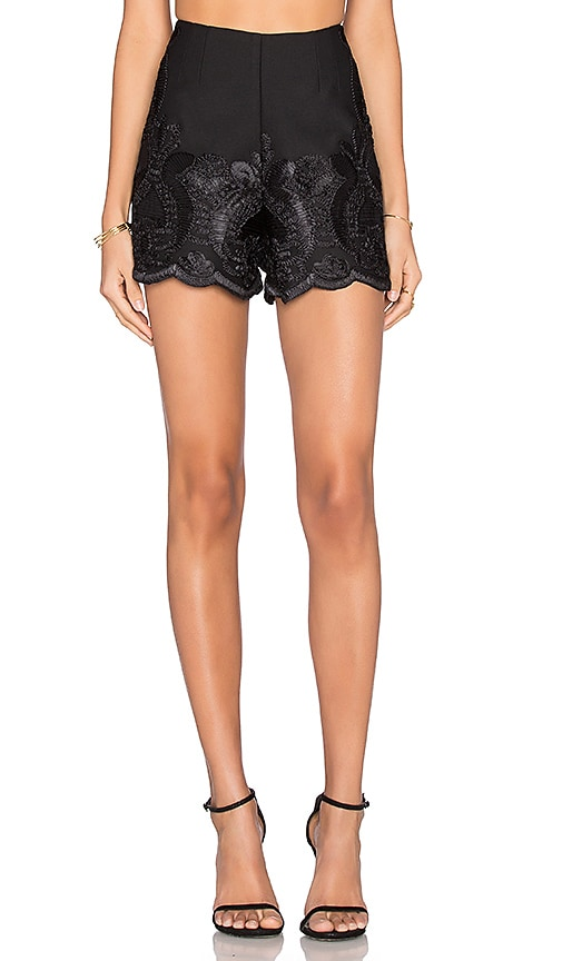 Alexis Rae Embroidered Shorts in Black