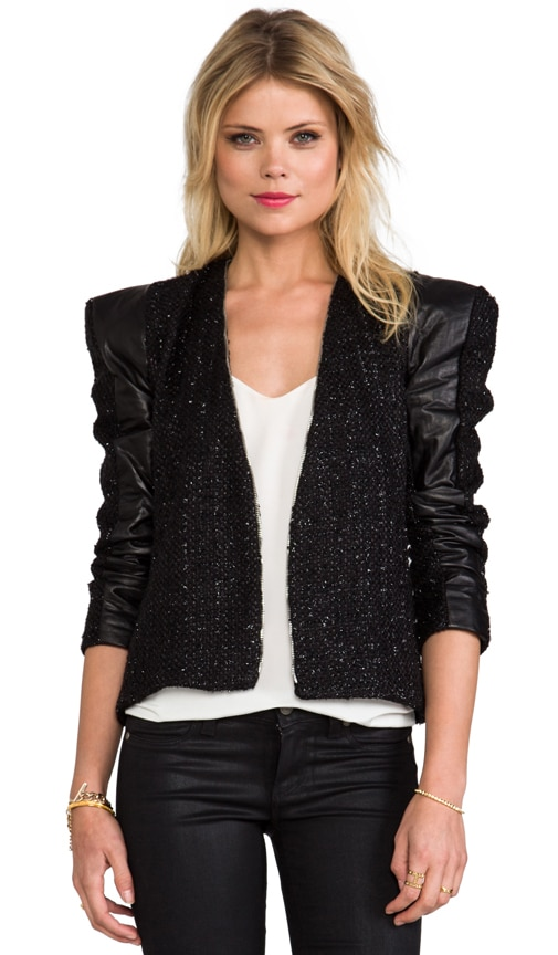 Tomy Structured Jacket With Leather Panels