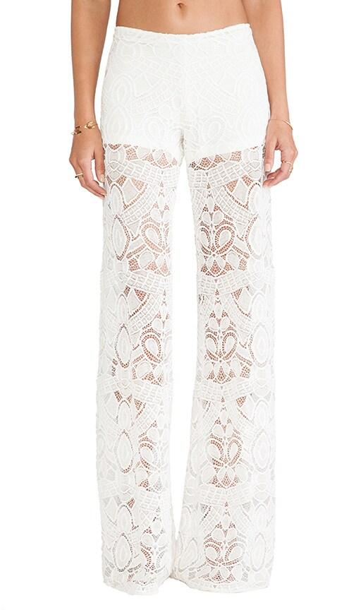 X REVOLVE Madrid White Lace Wide Leg Pant