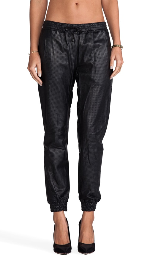 Cober Leather Track Pant