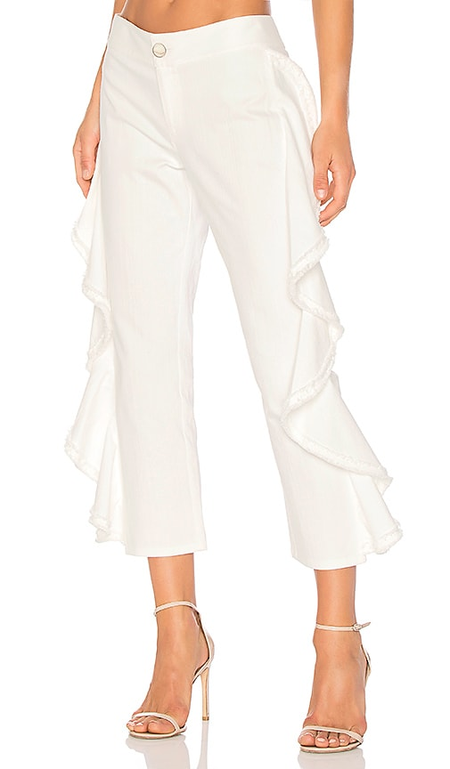 Alexis Nikko Pant in White