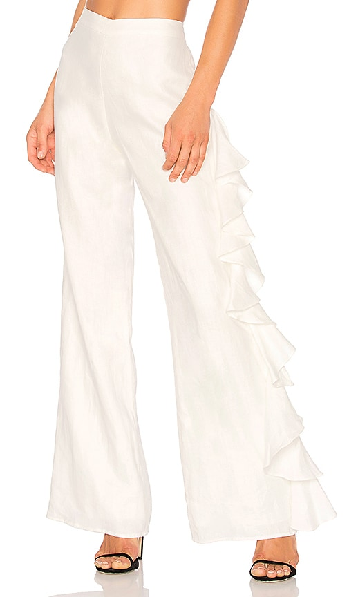 Alexis Makensie Pant in White
