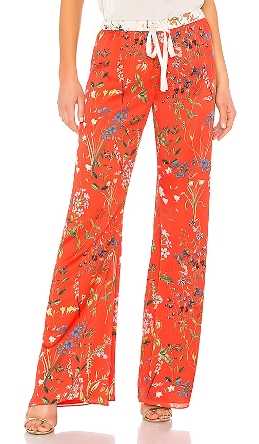 Alexis Pearson Pant in Red