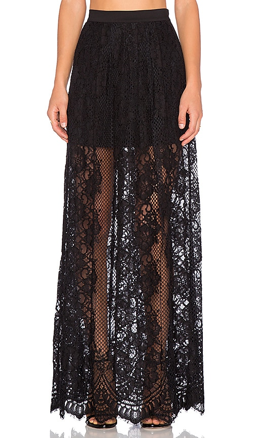 Alexis Lucrenzia Lace Skirt in BLack Lace