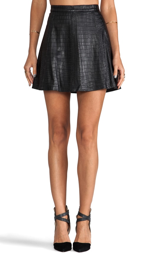 Hayes Croc A-Line Mini Skirt