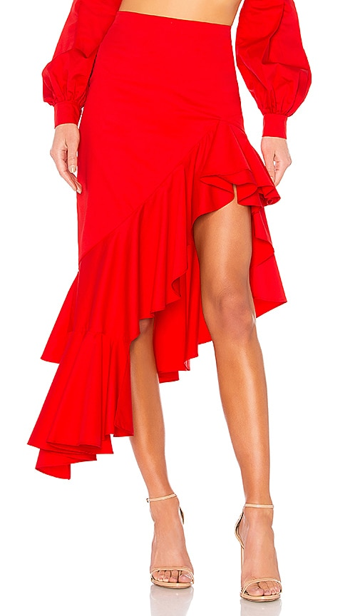 Alexis Cameo Skirt in Red