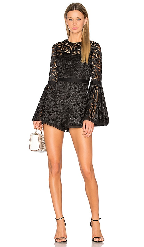 Alexis Rihanne Romper in Black