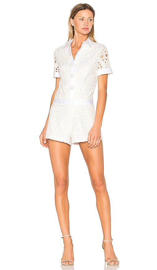 Alexis Rockwell Romper in White