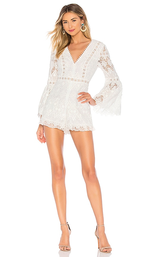 ca7a5af75d6b Alexis Caralyn Romper in White Guipure