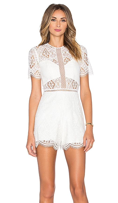 Alexis Brias Romper in White
