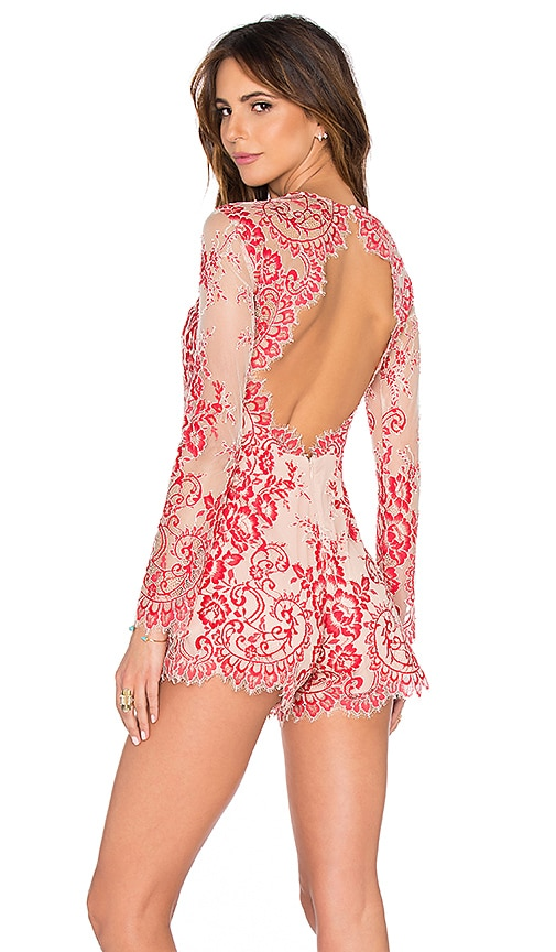 Alexis Li Romper in Red