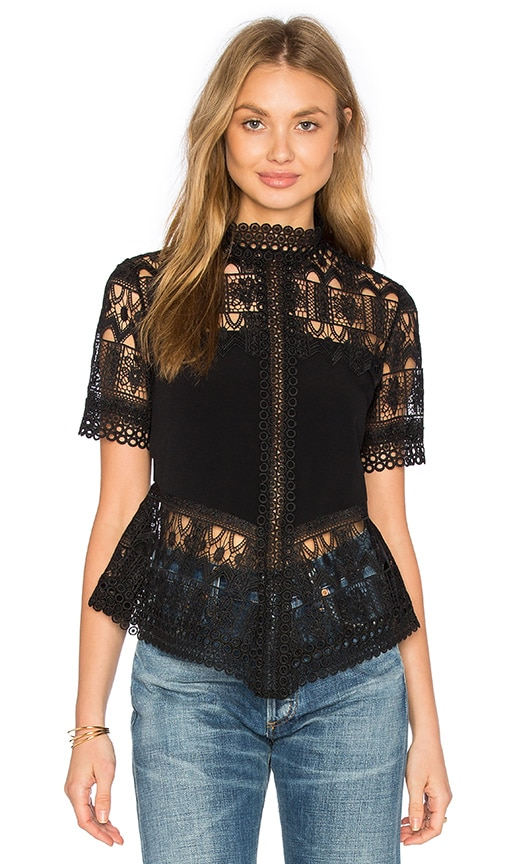 Alexis Blayze Top in Black Lace