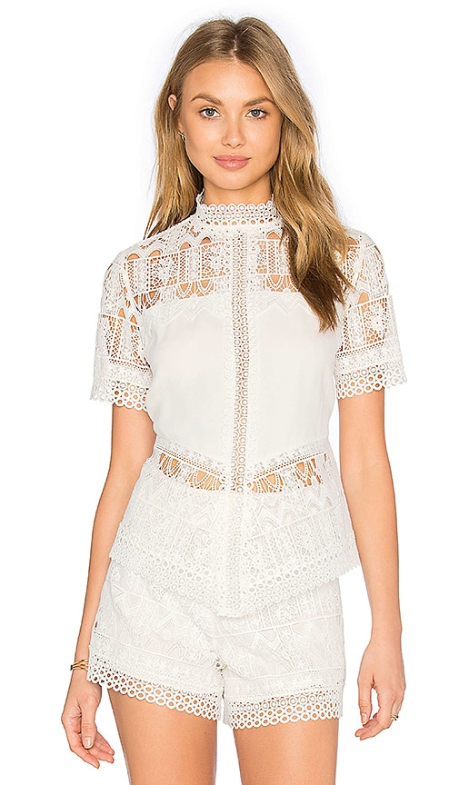 Alexis Blayze Top in White