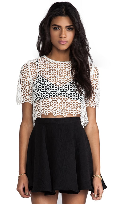 Lisette Crochet Crop Top
