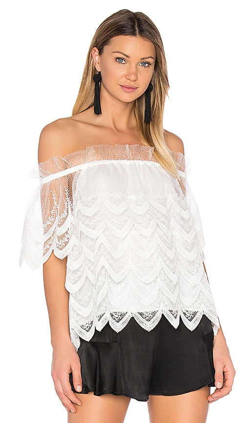 Alexis Abelli Top in White