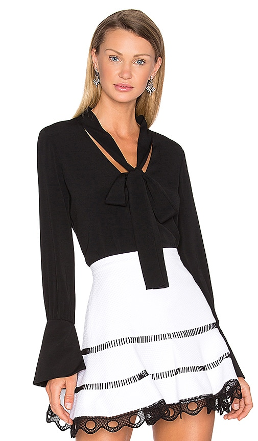 Alexis Diana Blouse in Black