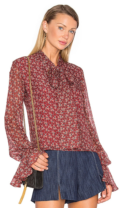 Alexis Romin Blouse in Red