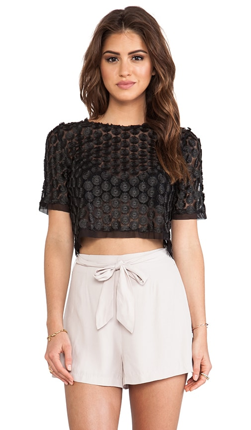 Lisette Capped Sleeve Lace Top