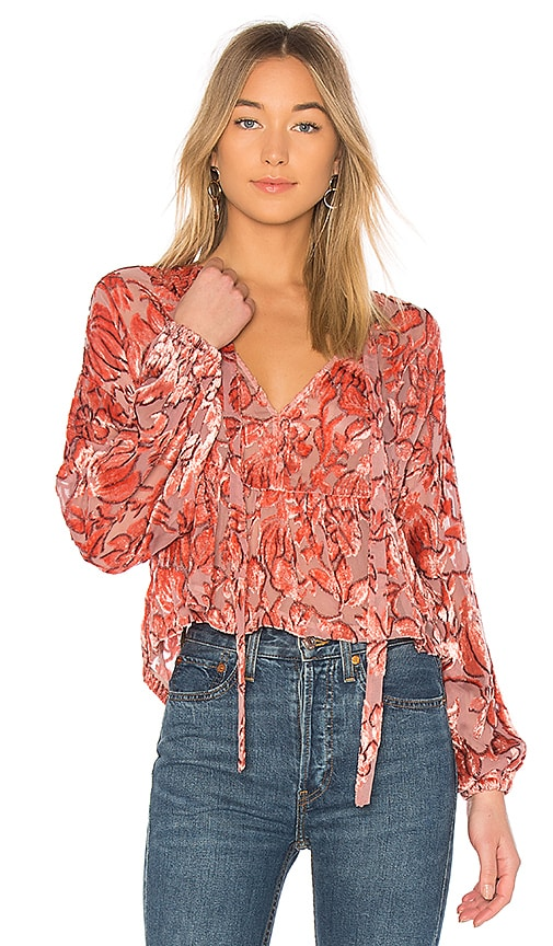 Alexis Caprina Blouse in Pink