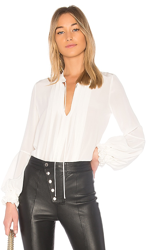 Alexis Jalen Silk Blouse in White