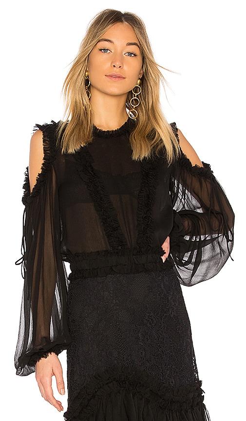 Alexis Belicia Sheer Blouse in Black
