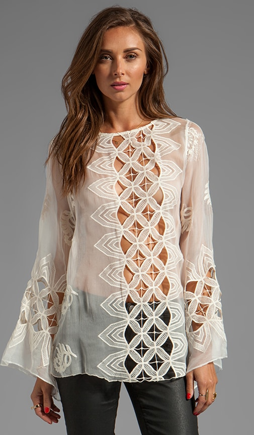 Aniko Silk Crochet Top