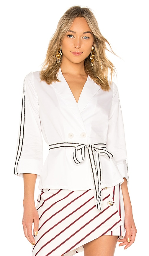 Alexis Madelyn Top in White