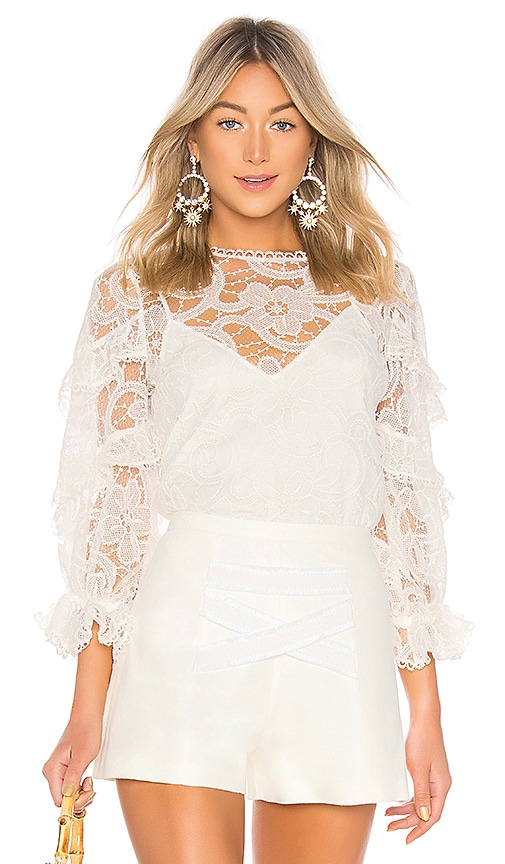 Alexis Ariell Top in White