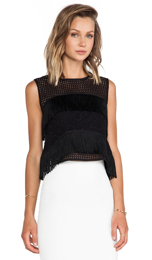 Bilbao Fringe Detail Crop Top