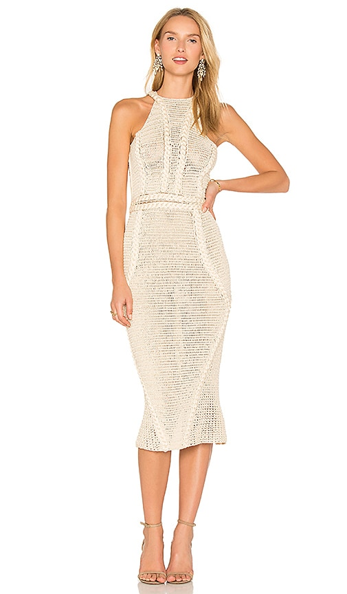 AYNI Palmara Midi Dress in Beige