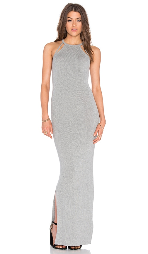 AYNI Gratona Maxi Dress in Light Grey