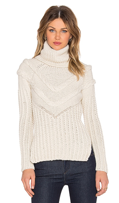 AYNI Morus Cable Knit Sweater in Off White
