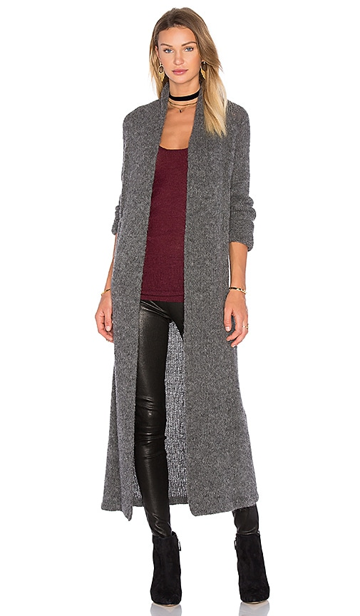 AYNI Aruni Long Cardigan in Gray