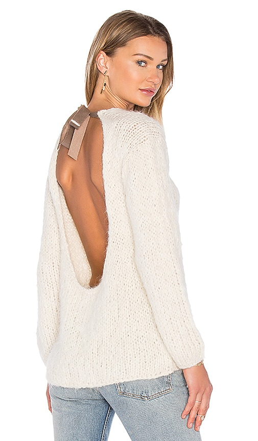 AYNI Nuqa Tie Back Sweater in Ivory