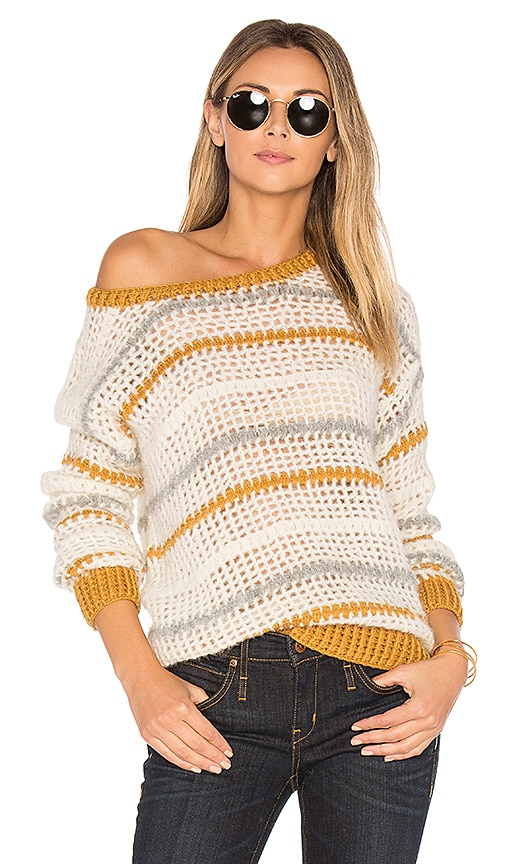 AYNI Mullu Crochet Sweater in White