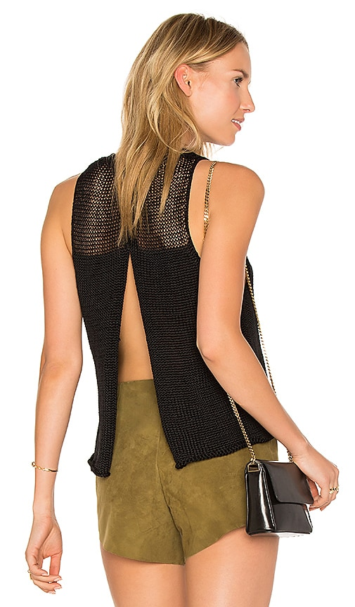 AYNI Huacura Crop Sleeveless Sweater in Black