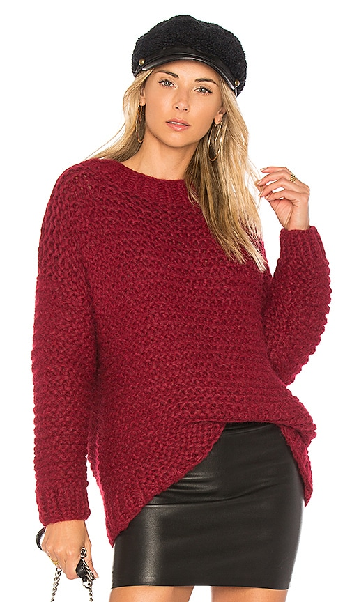 AYNI Zimonella Oversized Sweater in Burgundy