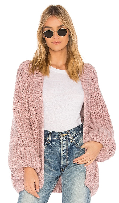 AYNI Cristelle Oversized Cardigan in Rose