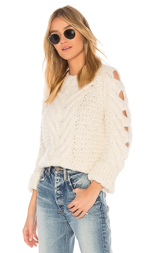 AYNI Jaqaru Sweater in Ivory