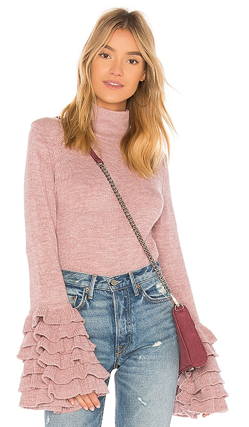 AYNI Tania Turtleneck Sweater in Rose