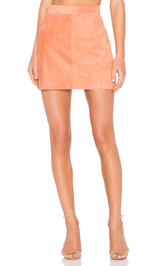 AYNI Platina Suede Skirt in Rust