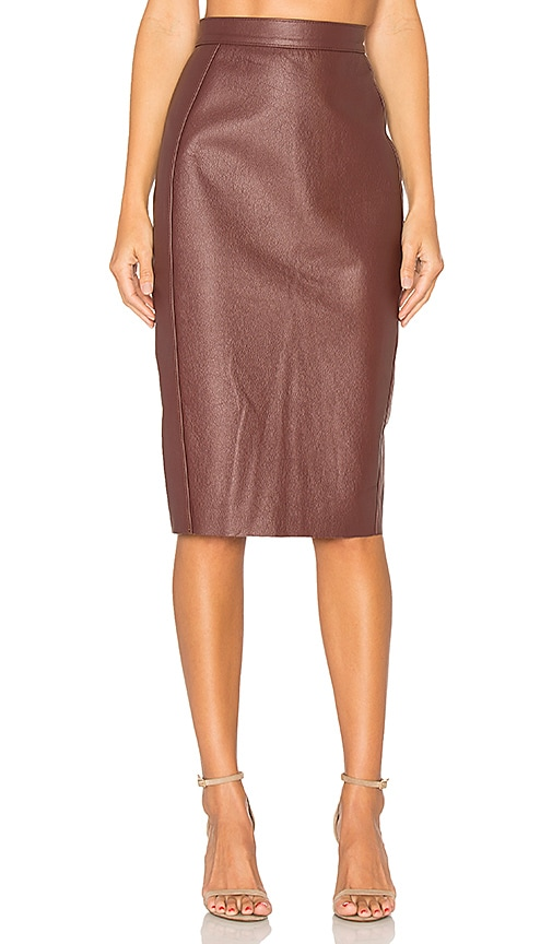 AYNI Wika Pencil Skirt in Burgundy