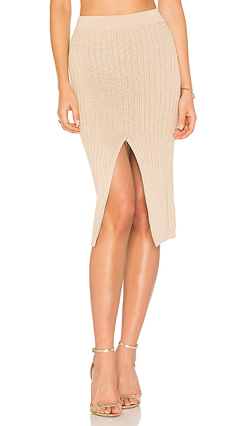 AYNI Phuket Midi Skirt in Tan