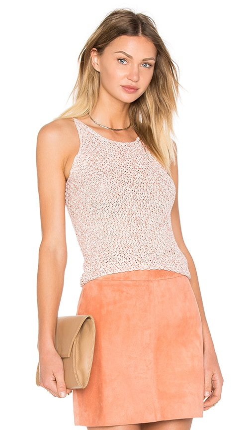 AYNI Asta Crochet Crop Top in Orange