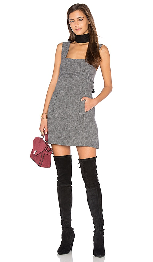 ba&sh Lyss Dress in Gray