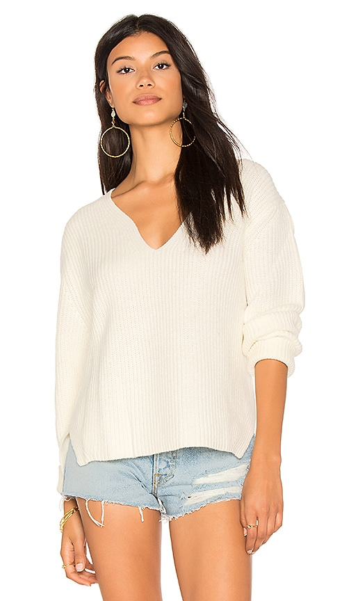 ba&sh Faris Pullover in White