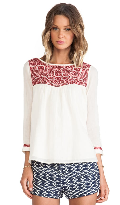 Chelmsford Embroidery Detailed Top