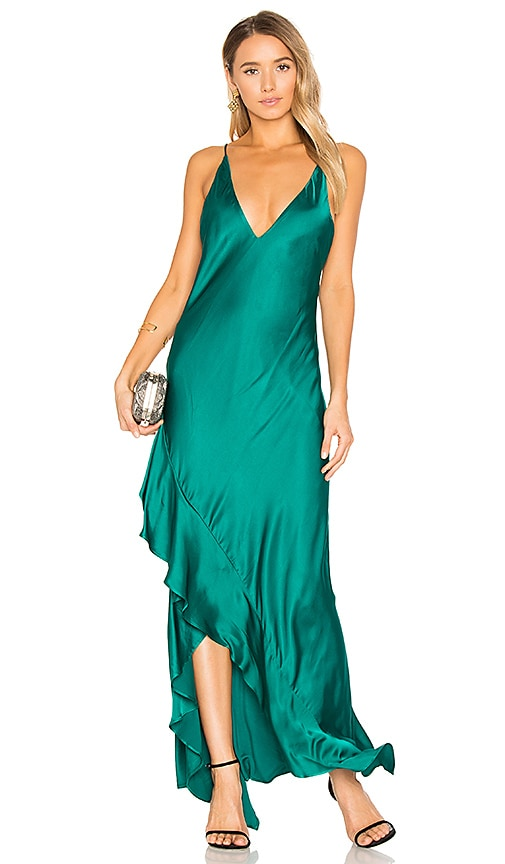 Backstage Zoe Dress in Dark Green